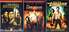 The Librarian 1 2 3 DVD Trilogy Lot Complete Collection 3 Movie Set Quest NEW