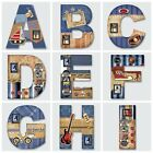 1 x New Beautiful Personalised Plaque Wooden Alphabet 26 Letters A-Z ( For BOYS)