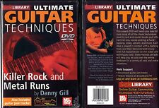 Lick Library Killer Rock and Metal Runs Guitar DVD; NEW