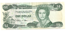1974 The Central Bank of the Bahamas One Dollar Bank Note ~ P971697