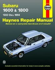 Subaru 1600 and 1800 1980 Thru 1994 Automotive Repair Manual Free Shipping
