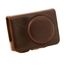 PU Leather Case Cover Bag for Leica C Panasonic LUMIX DMC-LF1 Camera Coffee