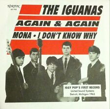 "IGUANAS 'Again & Again Mona 7"" GREEN COLOR WAX iggy pop wailers sonics stooges"