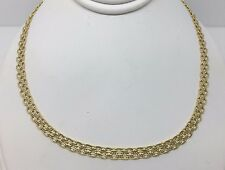 "Vintage 10k Yellow Gold Wheat Bismark Byzantine  4.2 MM Necklace 16"" Chain"