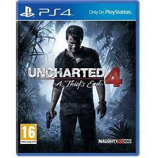 Uncharted 4: A Thief's End PS4 Game Playstation 4 NEW SEALED