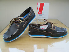HELLY HANSEN DECK CLASSIC LADIES BROWN LEATHER DECK BOAT SHOES SIZE 7  EURO 40.5