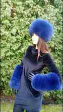 Pure Blue Fox Fur Hand Cuffs! TOP Quality Real Genuine Fur. ANY COLOR! Only Cufs
