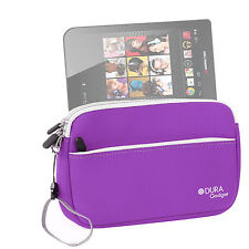 "Travel Pouch-Style Case in Purple Neoprene for Monster M7 7"" Tablet"
