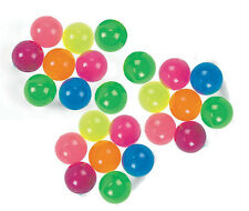 24 NEON BOUNCY BALLS, BRAND NEW & SUPER BOUNCY TOY~25mm PERFECT PARTY FAVOR!