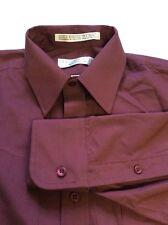 GEOFFREY BEENE Men's Dress Shirt Button Up Burgundy 15 32/33 L/S - B0312