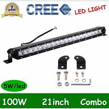 100W Combo 20/21INCH Single Row CREE LED OFFROAD Light Bar UTE 4X4WD Jeep 6000K