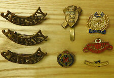 Military WW2 11th Royal Militia Island Of Jersey Shoulder Titles & Badges (4050)