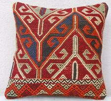16''X 16'' Livingroom Pillow Cover,Pillow made with Vintage Kilim Embroidery Rug
