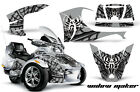 AMR Racing Can Am BRP RTS Spyder Graphic Kit Wrap Street Bike Decal WIDOW SLVR