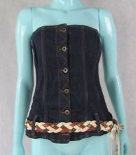Dolce & Gabbana D&G DENIM BELTED CORSET SIZE M UK 10 AUTHENTIC