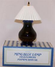 Vintage  Avon Ming Blue Lamp Field Flowers Foaming Bath Oil