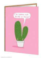 Brainbox Candy Sorry Apology Greetings card funny novelty cheeky humour quirky