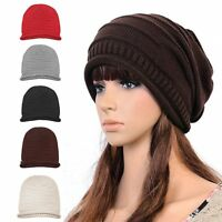 Unisex Men Women Winter Warm Knit Crochet Ski Cap Hip-hop Baggy Beanie Beret Hat
