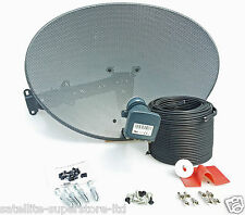 Sky / Sky HD / Freesat HD Satellite Dish & Full 10m Twin Black Install Kit +MORE