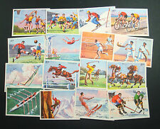 LOT 16 IMAGES SCOLAIRES LE SPORT ECOLE RECOMPENSE FOOT SKI RUGBY GOLF OLD SCHOOL
