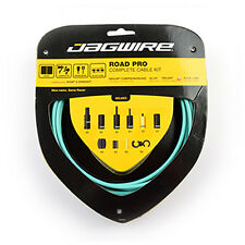 Jagwire RCK010 Road Pro Shift & Brake Complete Cable Kit - Bianchi celeste