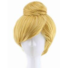 Tinker Bell Fairy Pixie Cosplay Prop Synthetic Hair Short Blonde Wig 30cm Long ^