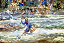 Trout River  by John Whorf  Giclee Canvas Print Repro