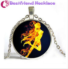 NEW Silver Anime Sailor Moon Jewelry Glass Dome Pendant Necklace#NS3