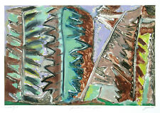 George Cramer Monoprint Forest in the Flesh Abstract American Modern Art