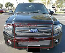 07 - 11 10 Ford Expedition Aluminum Billet Grills Grille Insert Combo Upper+Lowe