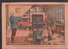 NOUVEL AN NOUVELLE FRANCE CANADA L'ANCIEN BENIT LA  FAMILLE  ILLUSTRATION 1930