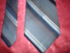 Gebrauchte Krawatte, Marke Ogigigi Campi, blau-grau-braun gestreift, guter Zusta