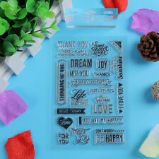 1pc SiliconeTampons transparents Noël scrapbooking carterie clear stamps DIY-