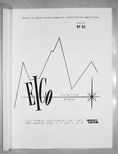 Eico HF-81 HF81 tube stereo integrated amplifier manual reprint
