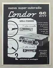 E469-Advertising Pubblicità-1964- CONDOR AUTORADIO A TRANSISTOR GC 2777