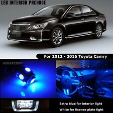 13PCS Blue Interior LED Bulbs For 2012 - 2016 Toyota Camry White for License