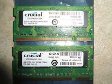 * CRUCIAL 8GB (2 x 4GB) DDR2 PC2-6400 800MHz Apple Mac LAPTOP SO-DIMM *