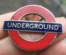 LONDON TRANSPORT UNDERGROUND vintage 1950s staff enamel uniform lapel BADGE
