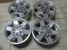 "17"" DODGE RAM 2500 3500 POLISHED BIG HORN LARAMIE FACTORY OEM WHEELS RIMS B"
