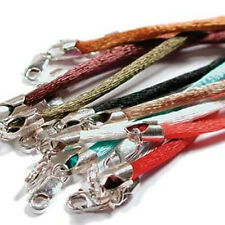 """12 Beadsmth Multicolor Satin 2mm Necklaces with .925 SterlingLobster Clasps 16"""""""