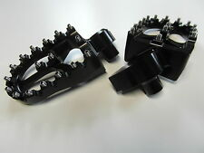 MX Footpegs Alu Fußrasten KTM SX EXC 450 01 02  03 04 05 06 07 08 09 10 11 black