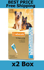 Advocate For Dogs 4-10kg Medium Dogs 6 Pack Flea and Lice Treatment EXP 11/2017