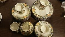 MIKASA china GARDEN HARVEST CAC29 pattern 40 piece Set Service for EIGHT Used