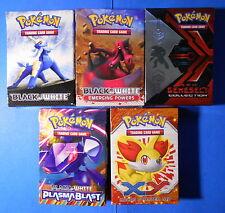 Lot of 5 Pokemon TCG deck boxes: Fennekin, Genesect x2, Krookodile, Samurott