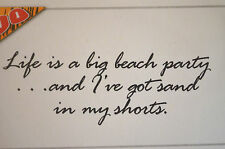I HAVE SAND IN MY SHORTS! words only L@@K@examplesART IMPRESSIONS RUBBER STAMPS