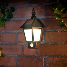 New Outdoor Solar Powered Coach Wall Light With PIR Sensor