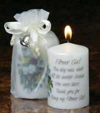 Wedding Flower Girl Candle - Favour Thank You  Keepsake Gift   7439