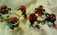 Hardees 1988 California Raisins Characters - Complete Set of 6 (Second issue)