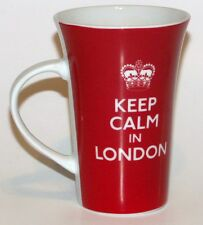 Red Mug Coffee Cup Keep Calm in London Tall Tea Cup