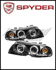 Spyder BMW E46 3-Series 00-03 2DR 1PC Projector Headlights LED Halo LED Blk